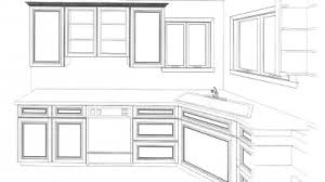 simple kitchen drawing. Simple Kitchen Drawing Cabinets Drawings Home Design Inspirations