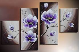 2018 hand painted hi q modern wall art home decorative purple flower oil painting on canvas bright green phalaenopsis on water hh025 from meihao1988