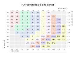 Men S Xs T Shirt Size Chart Size Guide Flatseven