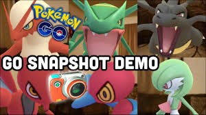 Simple GO Snapshot demo in my living room | Pokemon GO | Rayquaza Mew  Gardevoir Yanmega & more - YouTube