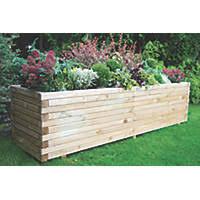 garden planters. Forest Rectangular Lomello Planter Natural Wood 1800 X 500 500mm Garden Planters D