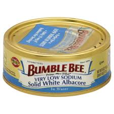 ble bee prime fillet solid white albacore tuna in water very low sodium 5 00 oz sku 086600000121