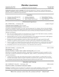 National Operations Manager Resume Customer Service Manager Resume ...