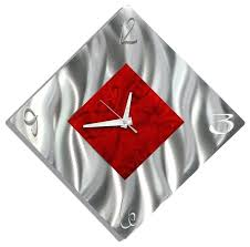 red metal wall decor red metal wall decor extraordinary silver and red diamond metal wall clock red metal wall decor