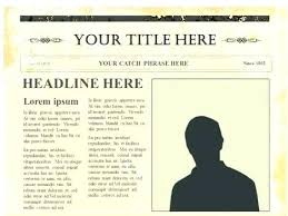 Old Time Newspaper Template Word Old Style Newspaper Template Hostingpremium Co