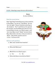 Best for 2nd grade, 3rd grade, 4th grade or 5th grade students. Reading Worksheets First Grade Reading Worksheets