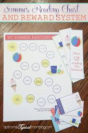 Summer Reading Incentive Chart Summer Reading Chart Reward System Reading Programs For