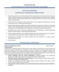 Professional Engineer Resume Samples Electrical Engineer Resume Example