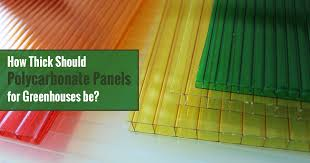 how thick should polycarbonate be for a