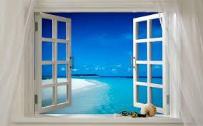 open house door. Beach Sea Ocean Open House Window Glass Home Tranquil Tropical Peaceful Seascape Calm Property Blue Room Door