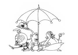 Small Picture Space goofs and an umbrella coloring pages Hellokidscom
