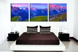 3 piece canvas wall art landscape orange multi panel panoramic uk blue decor triptych
