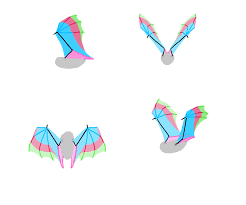 how to draw wings bat fligh frames 1