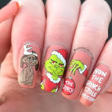 How the grinch stole <b>Christmas cartoon</b> nails | <b>Christmas</b> nails ...