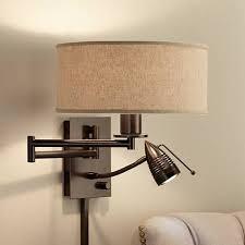 wall lighting for bedroom. guest room possini euro radix plugin tiger bronze swing arm wall lamp lighting for bedroom n