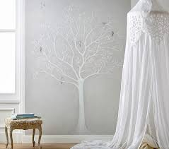 tree white mural decal