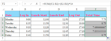 Hour Sheet Calculator How To Calculate Hours Worked And Minus Lunch Time In Excel