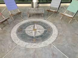 stamped concrete overlay. Stamped Concrete Overlay- Compass Beach-style-patio Overlay