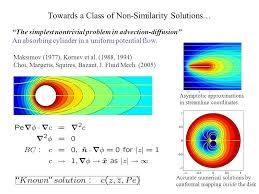 towards a class of non similarity solutions the simplest nontrivial problem in advection