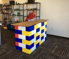 Bricks furniture Cinder Modular Retail Furnishings Scribblekidsorg Everblock Everblock Systems Modular Building Blocks