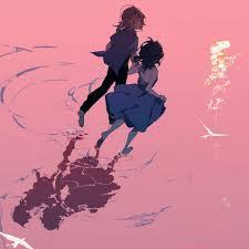 2048x2048 Anime Friends Running Ipad ...