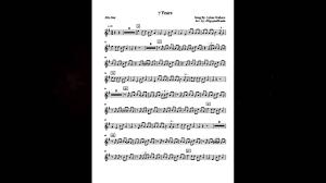 7 years old sheet music 7 years lukas graham saxophone sheet music youtube