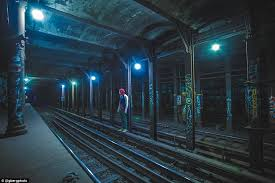empty subway tunnel.  Tunnel Mr Berg Pictured Goes Down Onto The Tracks Of Subway But Makes Throughout Empty Subway Tunnel