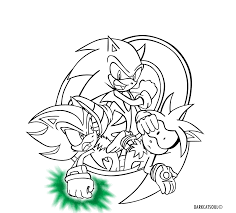 informative sonic silver and shadow coloring pages innovative super the hedgehog 10761 unknown