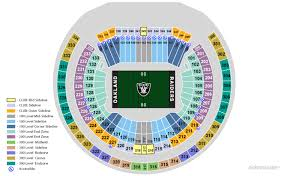 Oakland Coliseum Interactive Seating Chart Ringcentral Coliseum Oakland Raiders Football Stadium