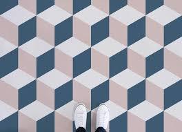cube geometric vinyl flooring pink feet vinyl flooring