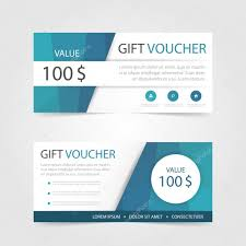 gift certificate for business blue polygon gift voucher template with colorful pattern cute gift