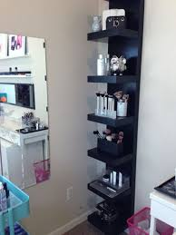 LACK Shelf from IKEA - this pic is so much different than the one. ikea   Vanity RoomBedroom Makeup ...