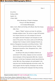 Annotated Bibliography Mla 8 Annotated Bibliography Generator