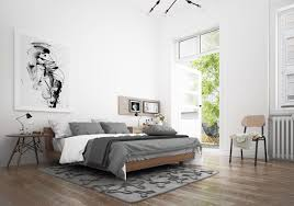 Scandinavian Bedroom Design Dominant With White Color Theme