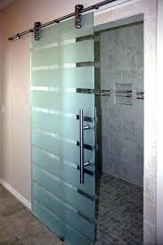 shower doors frosted glass barn door
