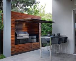 View in gallery outdoor summer kitchen wood