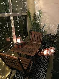 View bench rope lighting Lettuceveg Small Chown Hardware View In Gallery Apartment Balcony Decor Designs Photos Stylish Ideas
