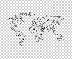 world map sticker wall decal png