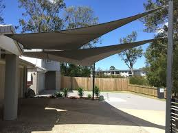 driveway shade sail private residence