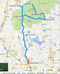 road trip planner for the white mountain national forest fine map