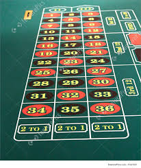 games and view of the numbers on a roulette table