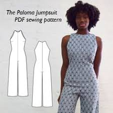 Jumpsuit Pattern Vogue Beauteous Vogue Jumpsuit Pattern V48 By REBECCA VALLANCE Misses' OpenBack
