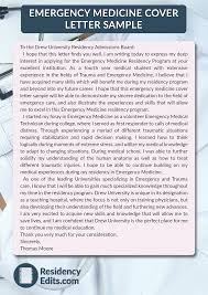 Emergency Medicine Cover Letter Sample On Pantone Canvas Gallery