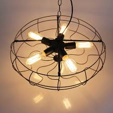 Modern American Industrial Country Loft Lustre Personality Fashion Vintage  Edison Fan Pendant Light Plate Fixture Kitchen