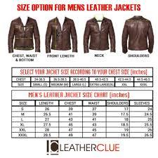 leather jacket size chart stylish leather gents jacket htljg0042