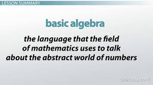 basic algebra rules equations examples