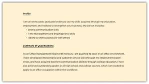 What To Put In A Resume Profile Elegant 5 Personal Profile Examples