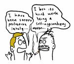 self-aggrandizing