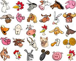 farm animals pictures. Delighful Pictures Banque Du0027images  Illustration De Bande Dessine Funny Farm Animals  Heads Big Set Throughout Pictures M