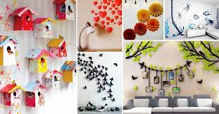 Wall Decoration Paper Design Wall Decor Designs Using Paper Made Decorations Attractive Diy Wall 7
